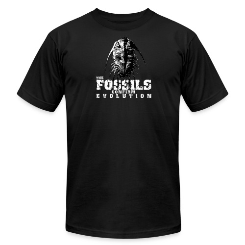The Fossils confirm Evolution - Men's Fine Jersey T-Shirt