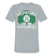 T-Shirts ~ Unisex Tri-Blend T-Shirt ~ ST. PATRICK-KYRIE IRVING THROWBACK