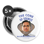 Buttons ~ Large Buttons ~ (5-Pack) Official Dogs Against Romney