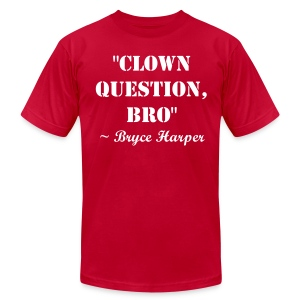 Clown Question, Bro - Men's T-Shirt by American Apparel