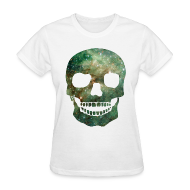 T-Shirts ~ Women's T-Shirt ~ COSMIC SKULL - LADIES TSHIRT