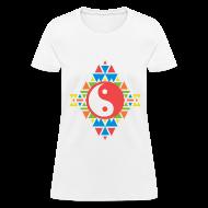 T-Shirts ~ Women's T-Shirt ~ AZTEC YING-YANG - LADIES TSHIRT