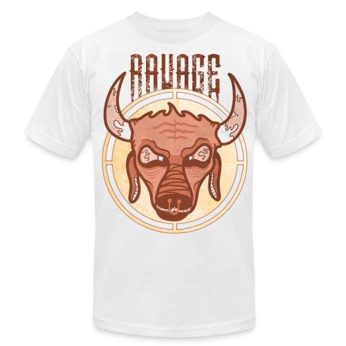 Bull's Eye Tee (White) - Men's Fine Jersey T-Shirt