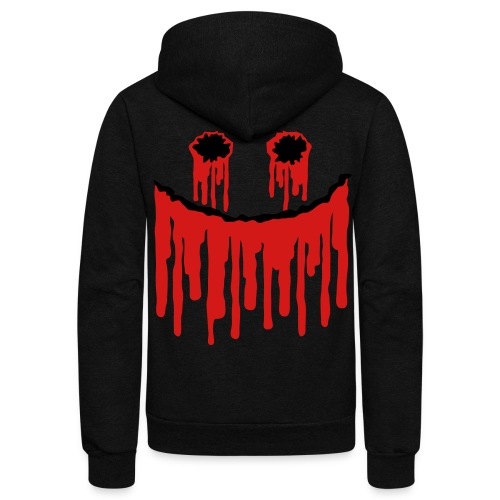 bloody smile  - Unisex Fleece Zip Hoodie