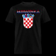 T-Shirts ~ Men's T-Shirt ~ Hrvatska Croatia glagoljica Sahovnica grb 3D