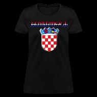 Women's T-Shirts ~ Women's T-Shirt ~ Hrvatska Croatia glagoljica Sahovnica grb 3D