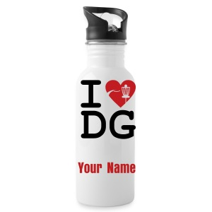 I Love Disc Golf - ADD YOUR NAME! - Sport Bottle - Water Bottle