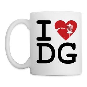 I Love Disc Golf Mug - White - Coffee/Tea Mug