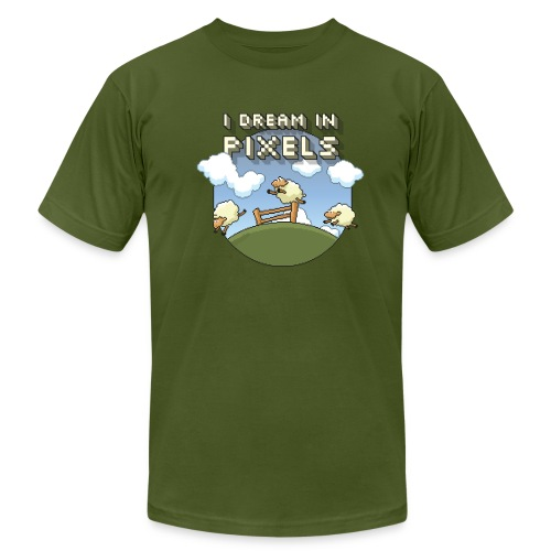 I Dream in Pixels - Men's Fine Jersey T-Shirt