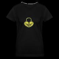 T-Shirts ~ Women's V-Neck T-Shirt ~ Pop My Lock 3D-Yellow/Silver