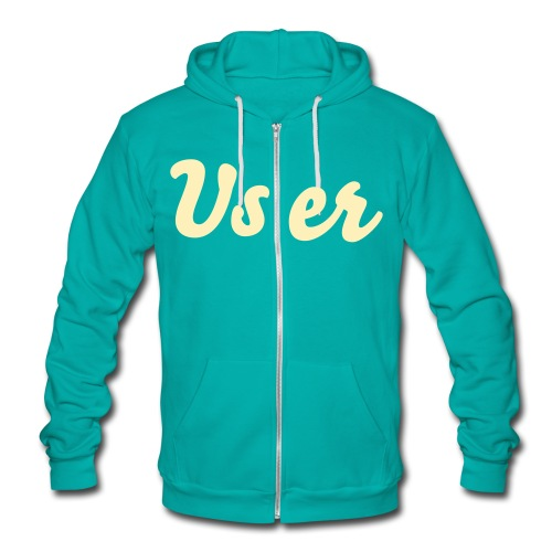 User brand cream/teal Zip hoodie sweater tm  - Unisex Fleece Zip Hoodie