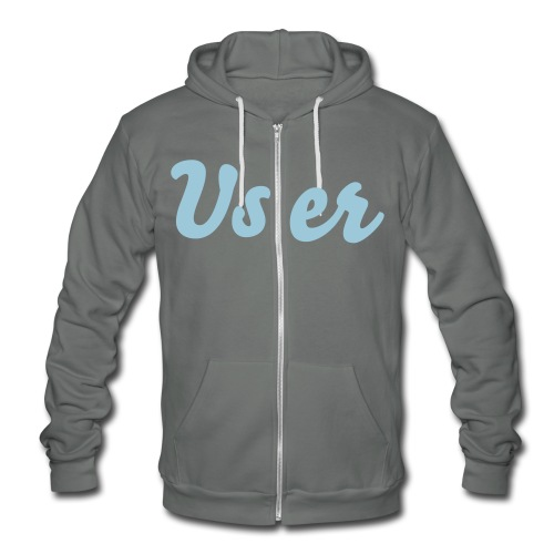 User brand powder/grey Zip Hoodie sweater tm  - Unisex Fleece Zip Hoodie