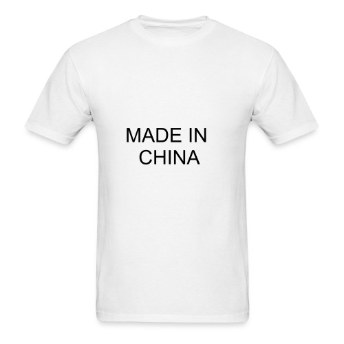 Made In China White T-shirt - Men's T-Shirt