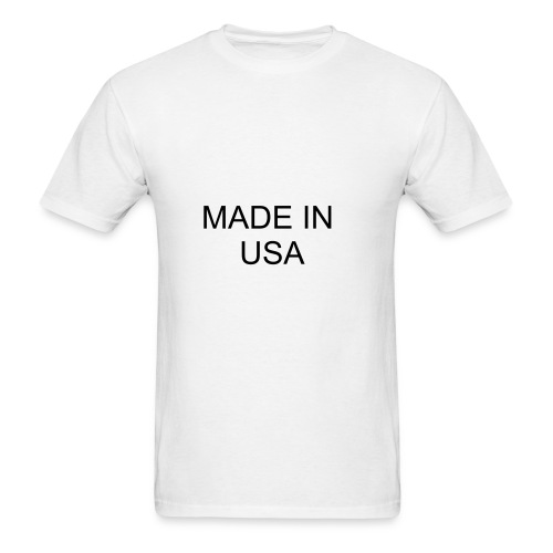 Made In USA White T-shirt - Men's T-Shirt