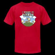 T-Shirts ~ Men's T-Shirt by American Apparel ~ I Dream in Pixels