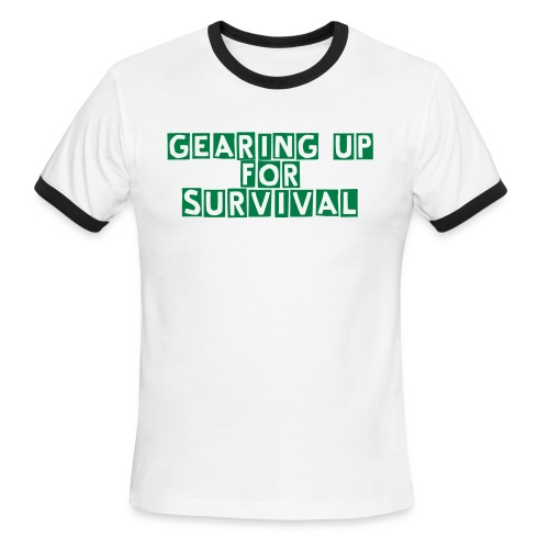 Men's Ringer T-Shirt - Gearing Up For Survival