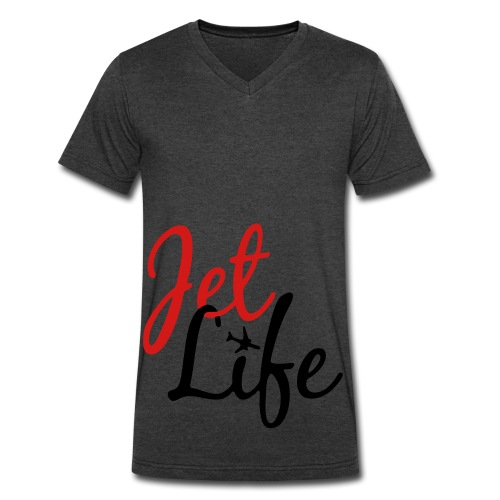 jet life v-neck - Men's V-Neck T-Shirt by Canvas