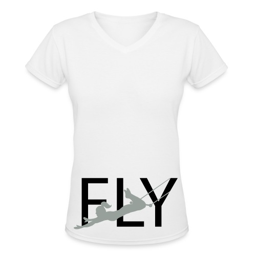 fly v-neck - Women's V-Neck T-Shirt