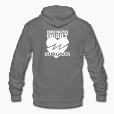 Broken heart surgeon funny design for anyone out of luck with Romance Zip Hoodies/Jackets
