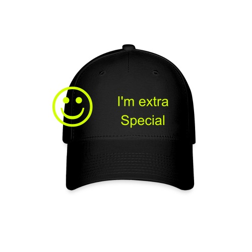 i'm extra special hat smile - Baseball Cap