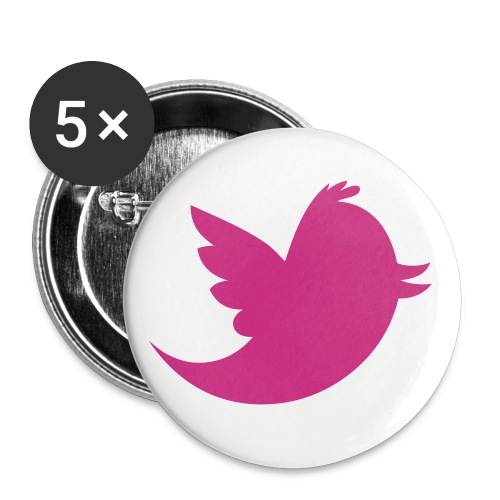cute silhouette bird pin - Small Buttons