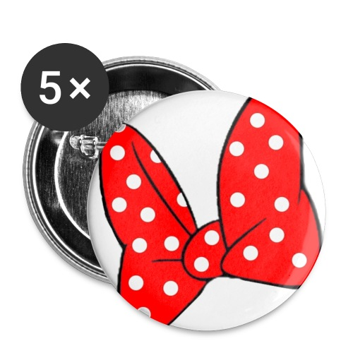 minnie mouse bow pin - Small Buttons
