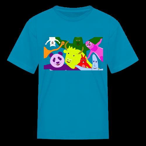 Animals and Banana - Kids' T-Shirt