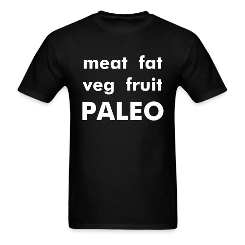 meat fat veg fruit PALEO - Men's T-Shirt