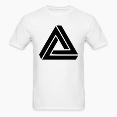 Triangle Visual Illusion T-Shirts