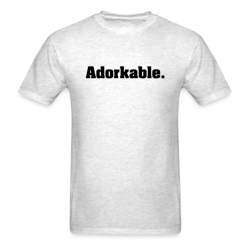 Adorkable (Black Print) T-Shirt - Men's T-Shirt