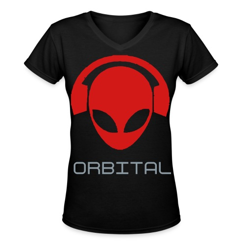 Women's Orbital beats - Women's V-Neck T-Shirt