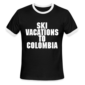 Ski Vacations To Colombia - Men's Ringer T-Shirt