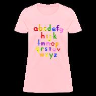 Women's T-Shirts ~ Women's T-Shirt ~ The Alphabet