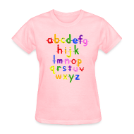 Women's T-Shirts ~ Women's T-Shirt ~ The Alphabet