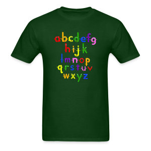 The Alphabet - Men's T-Shirt