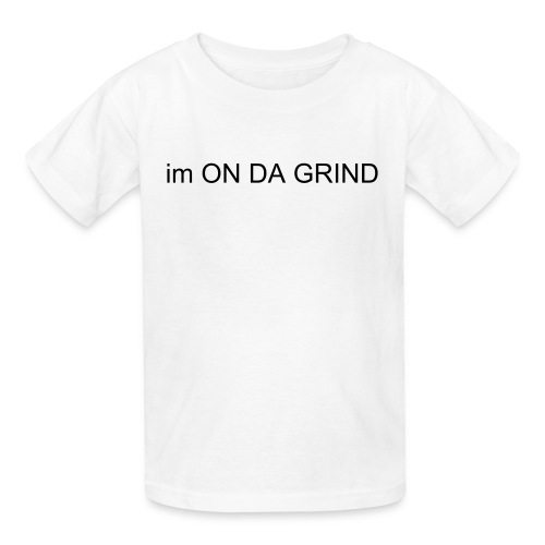 all day grinder white tee - Kids' T-Shirt