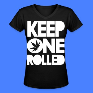 Keep One Rolled Women's T-Shirts - stayflyclothing.com - Women's V-Neck T-Shirt