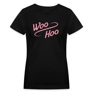 V-neck Woo Hoo - Women's V-Neck T-Shirt