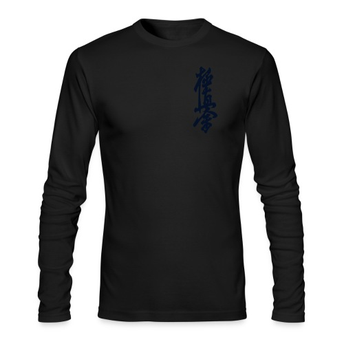 Men's AA Black Glitz Kyokushinkai-kan Kanji Long Sleeve - Men's Long Sleeve T-Shirt by Next Level