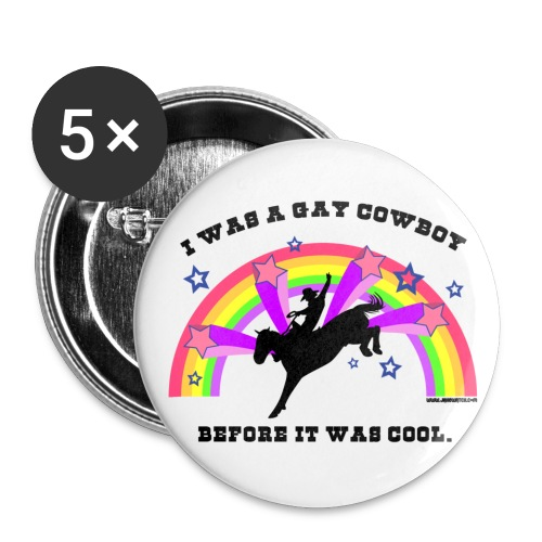 Gay Cowboy 2.25 Buttons - Buttons large 2.2'' (5-pack)