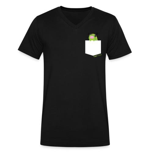 Tiny Pocket T-rex - Men's V-Neck T-Shirt by Canvas
