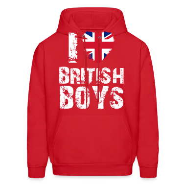 i love british boys Hoodies