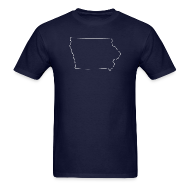 T-Shirts ~ Men's T-Shirt ~ Iowa Outline