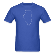 T-Shirts ~ Men's T-Shirt ~ Illinois Outline