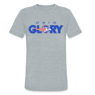 T-Shirts ~ Unisex Tri-Blend T-Shirt ~ VINTAGE OHIO GLORY LOGO TEE