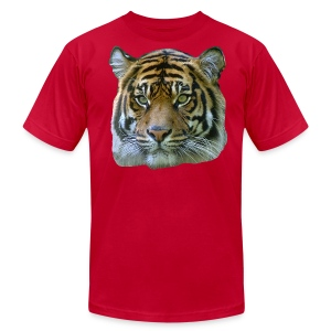 Tiger Head - Men's T-Shirt by American Apparel