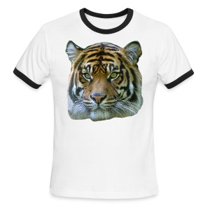 Tiger Head - Men's Ringer T-Shirt