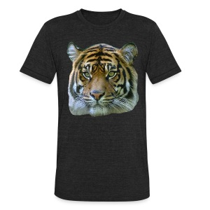 Tiger Head - Unisex Tri-Blend T-Shirt by American Apparel