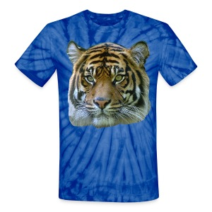 Tiger Head - Unisex Tie Dye T-Shirt