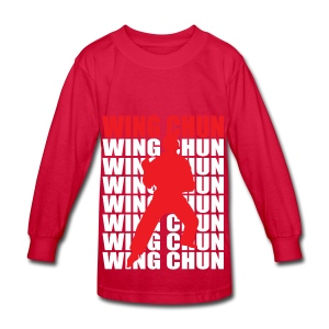 Wing Chun - Kids' Long Sleeve T-Shirt